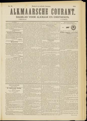 Alkmaarsche Courant 1914-04-03