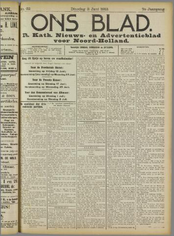 Ons Blad : katholiek nieuwsblad voor N-H 1913-06-03