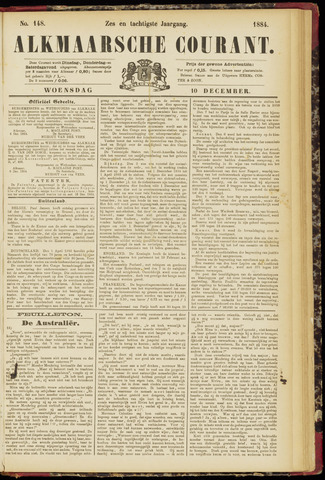 Alkmaarsche Courant 1884-12-10