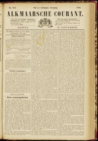 Alkmaarsche Courant 1883-09-23