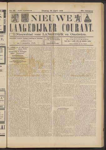 Nieuwe Langedijker Courant 1923-04-24