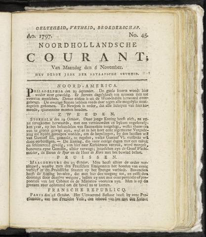Noordhollandsche Courant 1797-11-06