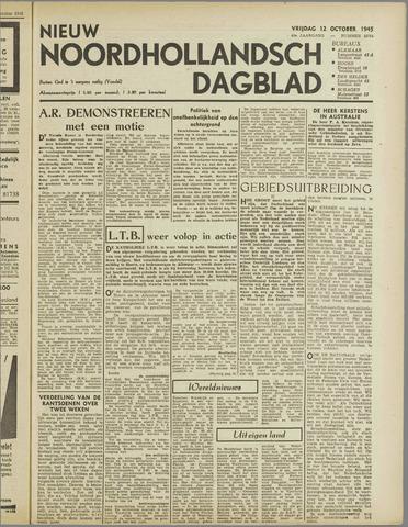Nieuw Noordhollandsch Dagblad : voor Alkmaar en omgeving 1945-10-12