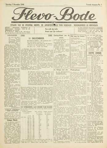 Flevo-bode: nieuwsblad voor Wieringen-Wieringermeer 1946-12-07