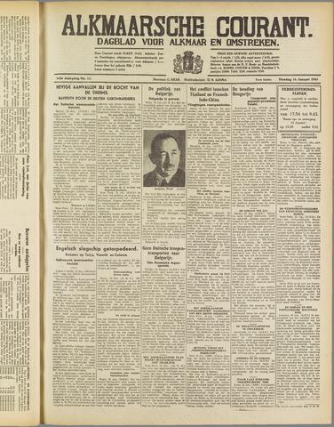 Alkmaarsche Courant 1941-01-14