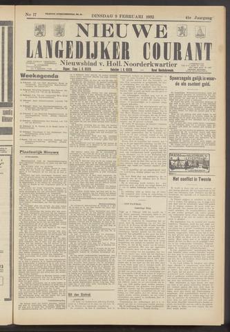 Nieuwe Langedijker Courant 1932-02-09