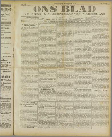 Ons Blad : katholiek nieuwsblad voor N-H 1920-11-16