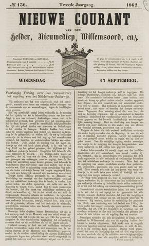 Nieuwe Courant van Den Helder 1862-09-17