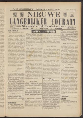 Nieuwe Langedijker Courant 1931-08-15