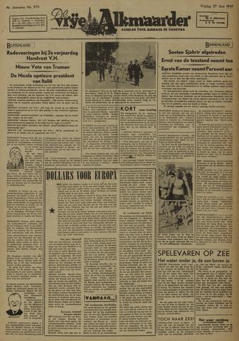 De Vrije Alkmaarder 1947-06-27