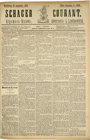 Schager Courant 1895-08-29