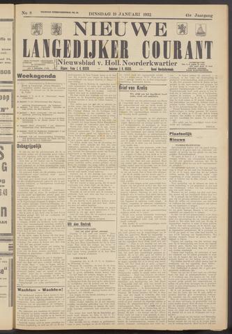 Nieuwe Langedijker Courant 1932-01-19