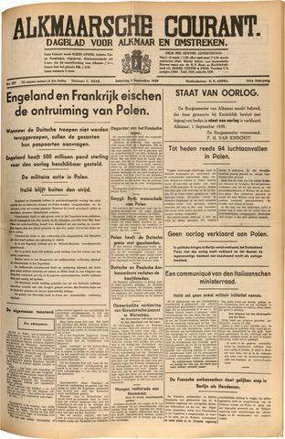 Alkmaarsche Courant 1939-09-02
