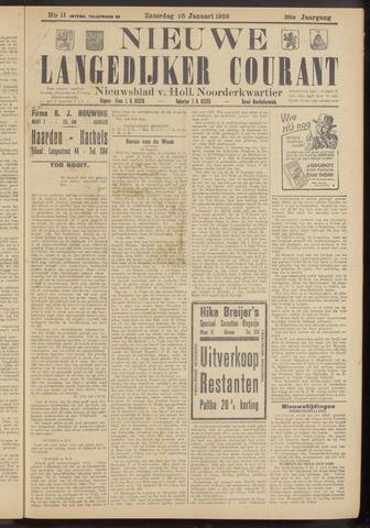 Nieuwe Langedijker Courant 1929-01-26