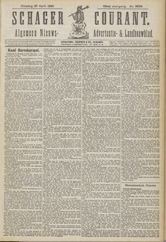 Schager Courant 1920-04-27