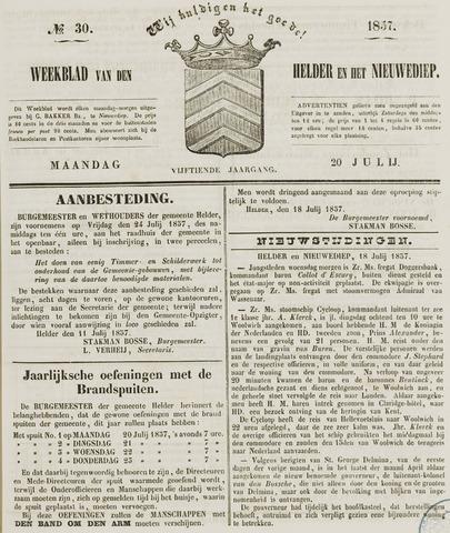 Weekblad van Den Helder en het Nieuwediep 1857-07-20