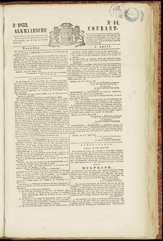 Alkmaarsche Courant 1852-04-05