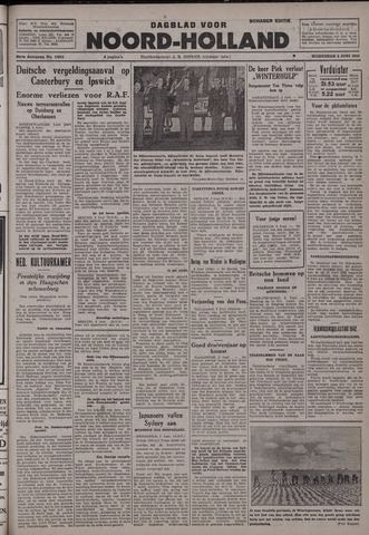Dagblad Noord-Holland, Schager editie 1942-06-03