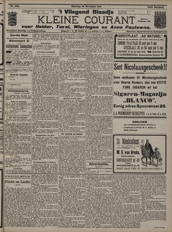 Vliegend blaadje : nieuws- en advertentiebode voor Den Helder 1910-11-26