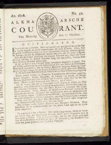 Alkmaarsche Courant 1808-10-17
