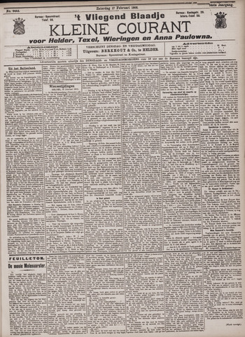 Vliegend blaadje : nieuws- en advertentiebode voor Den Helder 1906-02-17