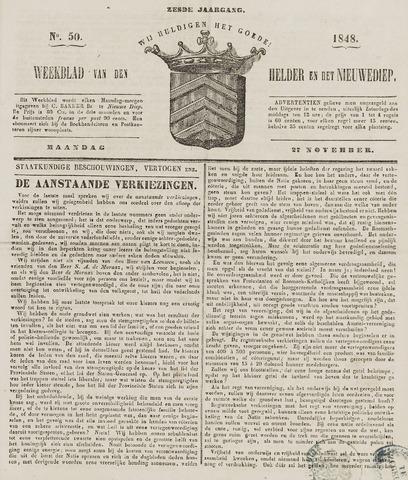 Weekblad van Den Helder en het Nieuwediep 1848-11-27