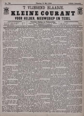 Vliegend blaadje : nieuws- en advertentiebode voor Den Helder 1880-05-11