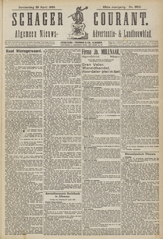 Schager Courant 1920-04-29