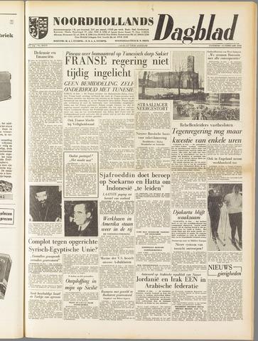 Noordhollands Dagblad : dagblad voor Alkmaar en omgeving 1958-02-15