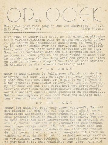Op De Hoek, weekblad voor Akersloot 1954-07-03