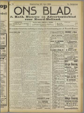 Ons Blad : katholiek nieuwsblad voor N-H 1913-06-26