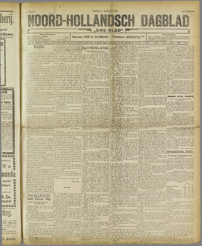 Ons Blad : katholiek nieuwsblad voor N-H 1921-08-02