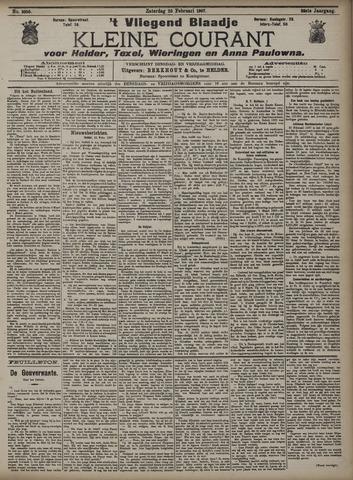 Vliegend blaadje : nieuws- en advertentiebode voor Den Helder 1907-02-23