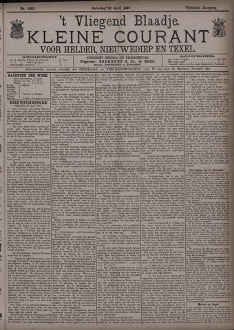 Vliegend blaadje : nieuws- en advertentiebode voor Den Helder 1887-04-30