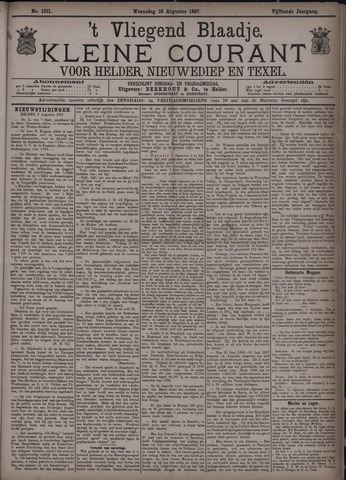 Vliegend blaadje : nieuws- en advertentiebode voor Den Helder 1887-08-10