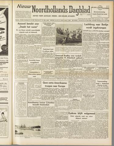 Nieuw Noordhollandsch Dagblad : voor Alkmaar en omgeving 1949-07-30