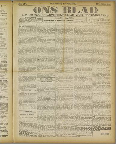 Ons Blad : katholiek nieuwsblad voor N-H 1919-07-10