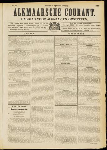 Alkmaarsche Courant 1913-09-26