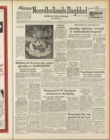 Nieuw Noordhollandsch Dagblad : voor Alkmaar en omgeving 1952-03-01