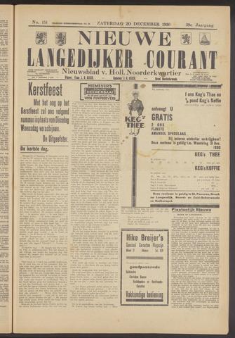 Nieuwe Langedijker Courant 1930-12-20