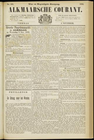 Alkmaarsche Courant 1892-11-04