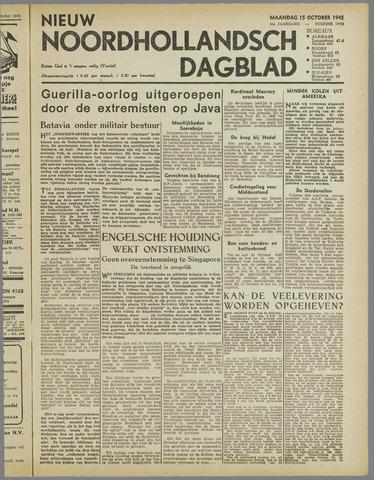 Nieuw Noordhollandsch Dagblad : voor Alkmaar en omgeving 1945-10-15