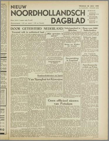 Nieuw Noordhollandsch Dagblad : voor Alkmaar en omgeving 1945-07-20