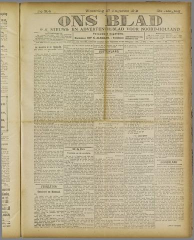 Ons Blad : katholiek nieuwsblad voor N-H 1919-08-27