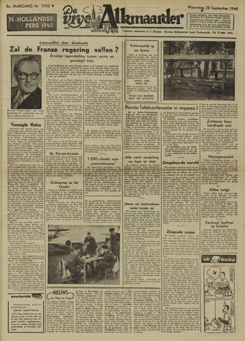 De Vrije Alkmaarder 1949-09-28