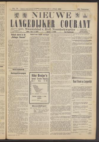 Nieuwe Langedijker Courant 1930-07-05