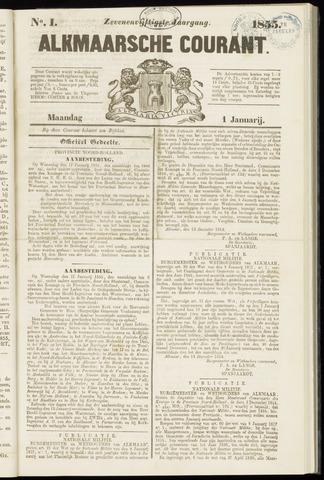 Alkmaarsche Courant 1855-01-01