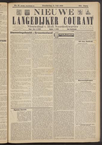 Nieuwe Langedijker Courant 1929-07-11