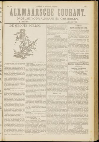 Alkmaarsche Courant 1914-08-04