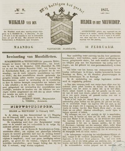 Weekblad van Den Helder en het Nieuwediep 1857-02-16